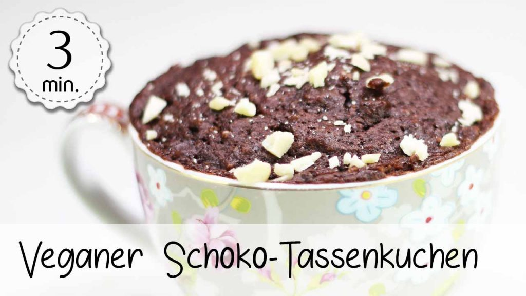 Veganer Schoko Tassenkuchen 5minuterecipes De
